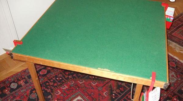 Bridgebord med kompletta budlådor