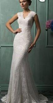 a25b41b033f9 Skräddarsydd Brudklänning i Mermaid Stil i Spets med Släp 2999 kr i ...