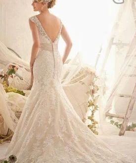 78af3c6feac7 Skräddarsydd Brudklänning Mermaid Stil med Släp Kristaller 2999 kr i ...